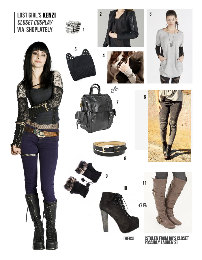 Closet Cosplay Wishlist for Kenzi of Lost Girl