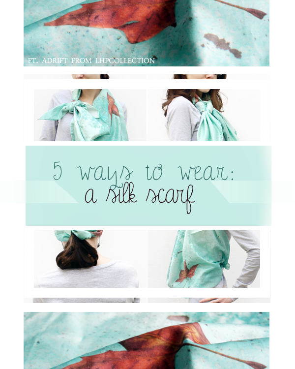 Ways to Wear A Silk Scarf