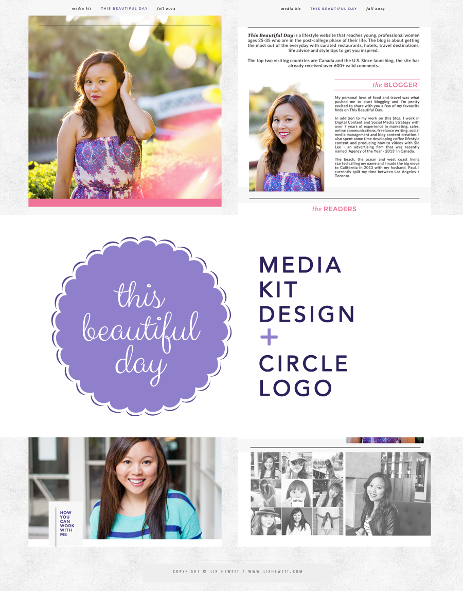 This Beautiful Day Circle Media Kit Design by Lix Hewett