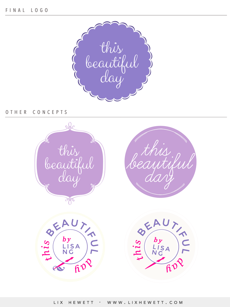 This Beautiful Day Circle Logo Design by Lix Hewett