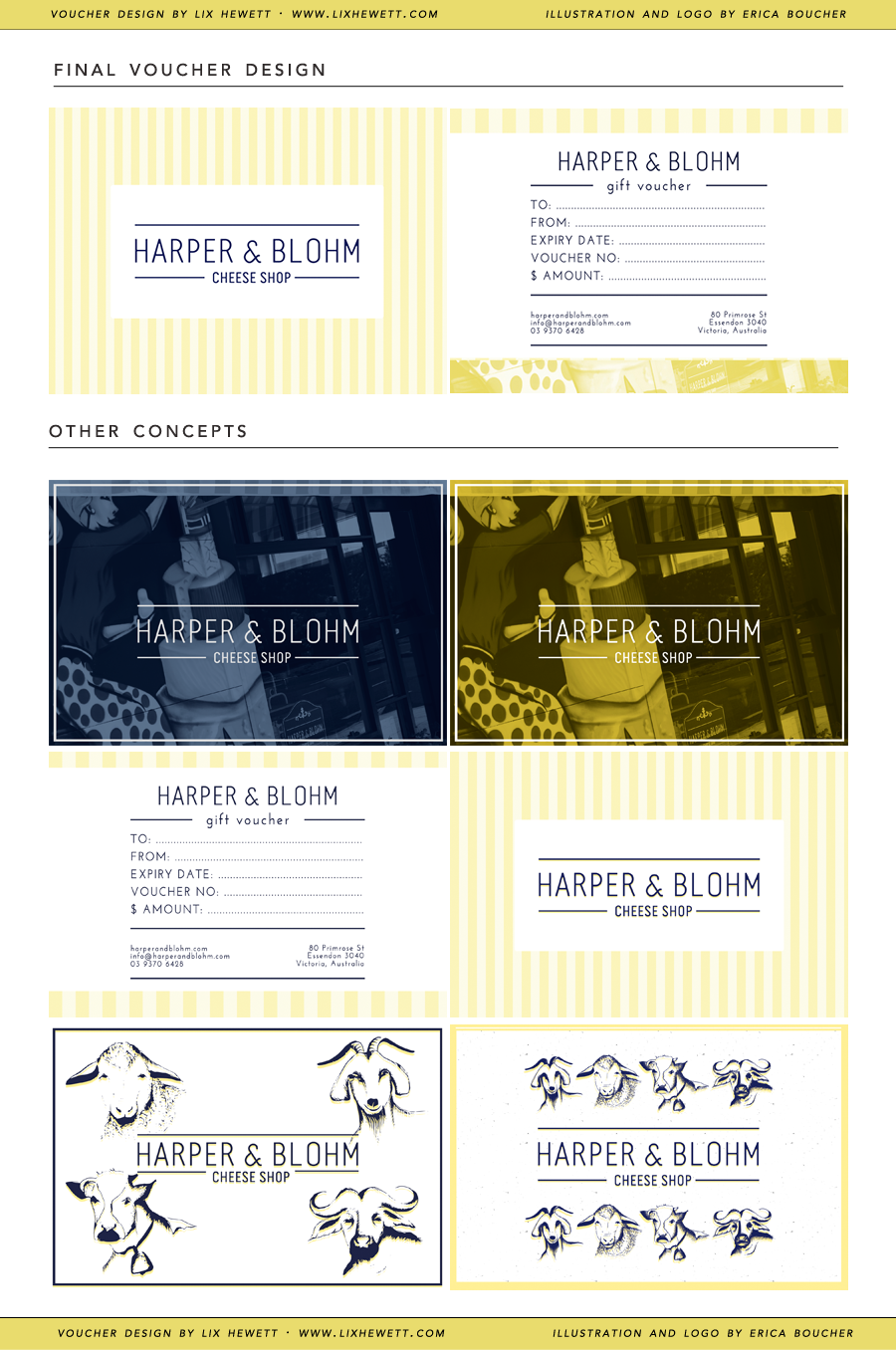 Cheese Shop Gift Card Design by Lix Hewett