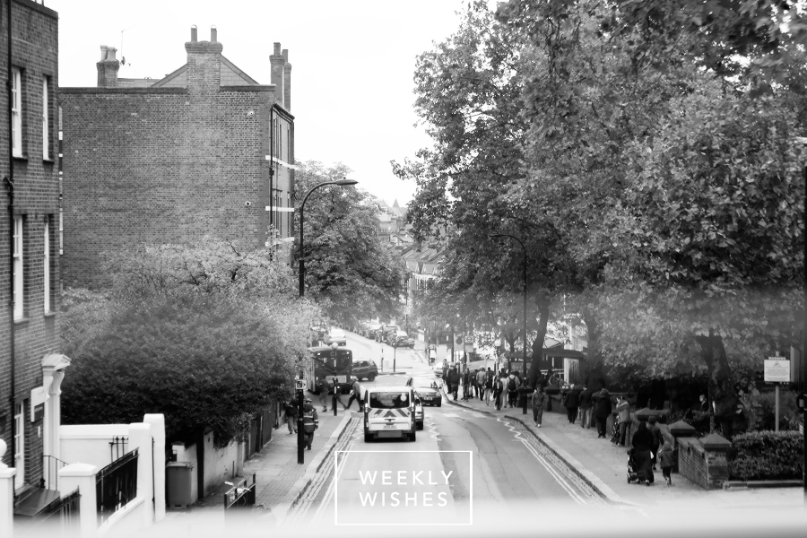 Haverstock Hill photo with 'Weekly Wishes' overlaid