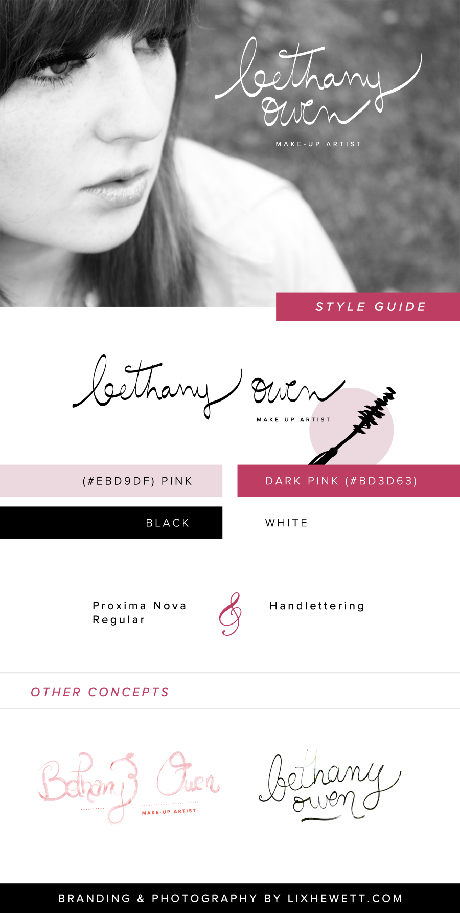 Branding and Logo Design / Bethany Owen Makeup / Lix Hewett / Graphic Designer