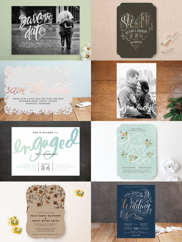 Minted.com Wedding Invitations and Save the Dates