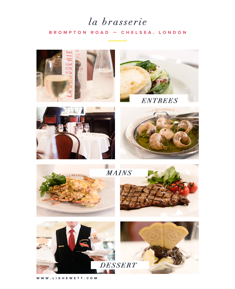 Lunch at La Brasserie / London Restaurants / Chelsea