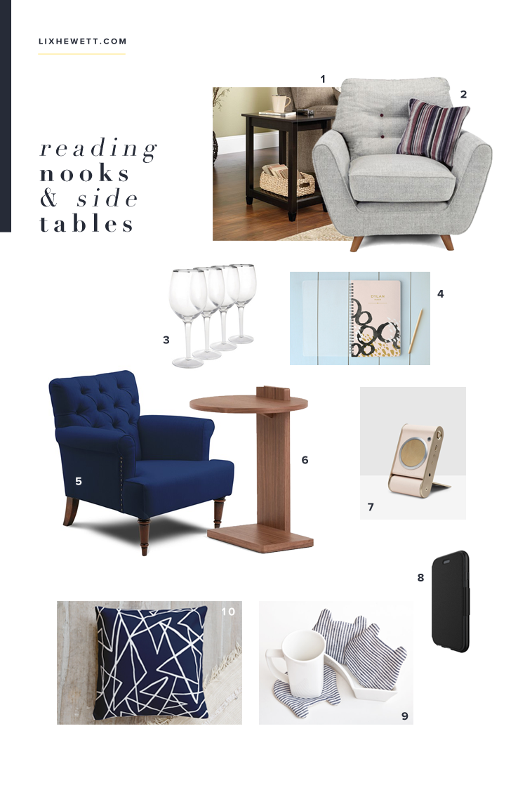 Perfect Reading Nook & Decking a Side Table - lixhewett.com