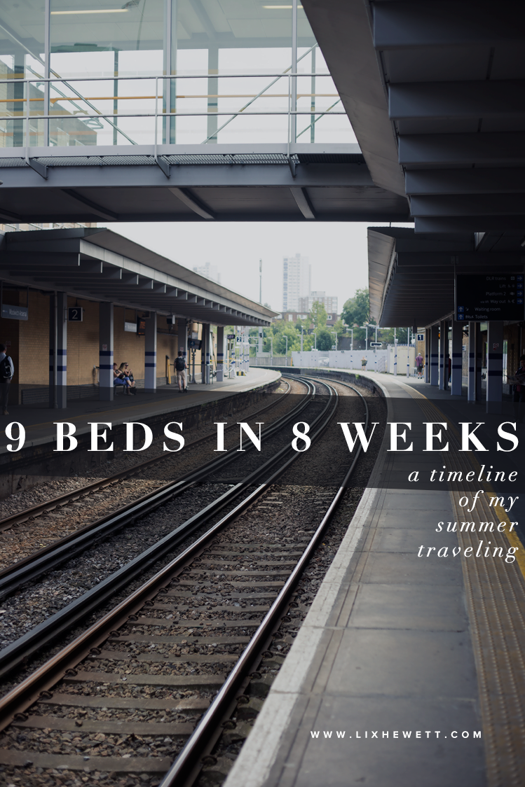 How to Sleep in 9 Beds In 8 Weeks